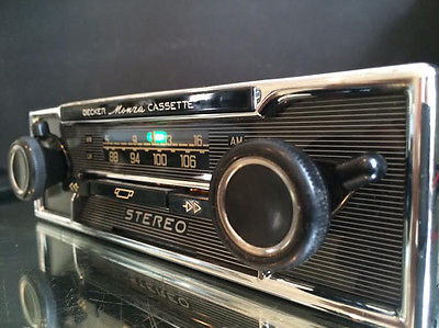 becker monza stereo vintage classic car fm radio cassette. Black Bedroom Furniture Sets. Home Design Ideas